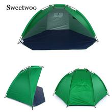Outdoor Beach Tent Sun Shed 2 People Rugged 170T Polyester Sunshade Fishing Tent Camping Picnic Walking Park Ultra Light Tent цена 2017