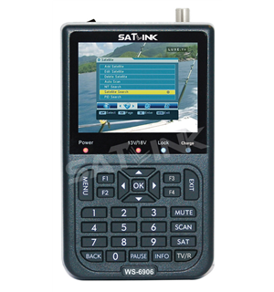 100% Original SATLINK WS-6906 DVB-S FTA Satellite TV Receiver 3.5 Inch LCD Screen Digital Satellite Meter Support QPSK anewkodi original satlink ws 6906 3 5 dvb s fta digital satellite meter satellite finder ws 6906 satlink ws6906