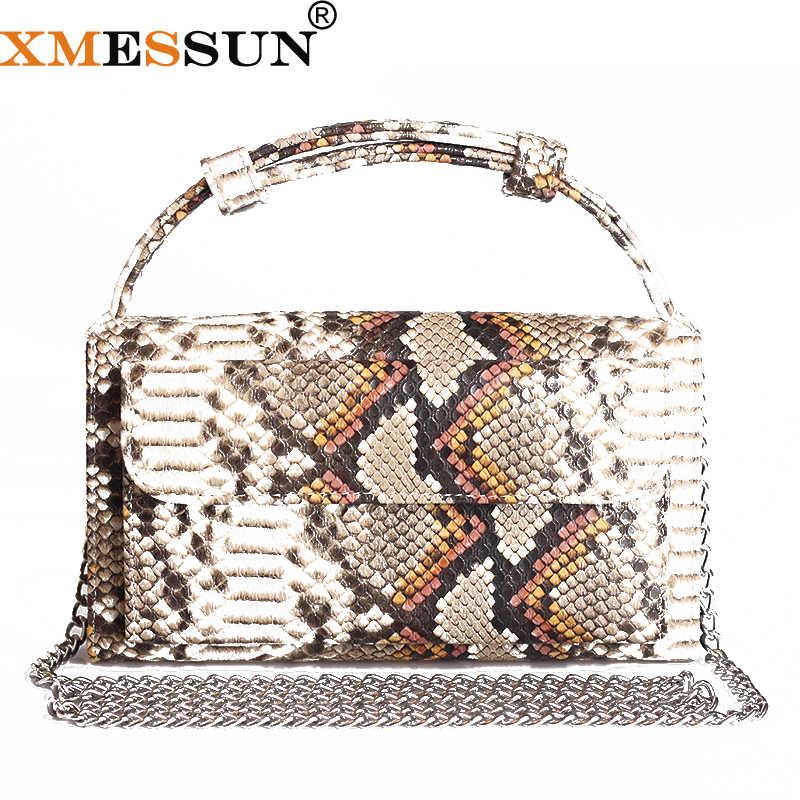 2020 Baru Fashion Hot Sale Desain Python Timbul Kulit dengan Penuh Grain Kulit Selempang Tas Kustom Lady Tas Tangan