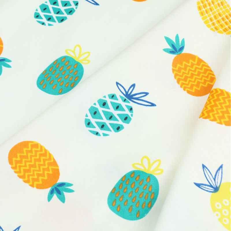 160 см * 50 хлопок ткань Фрукты Ананас младенец, ткань для детей Детская кроватка лоскутное платье Одежда Подушки craft лоскутное