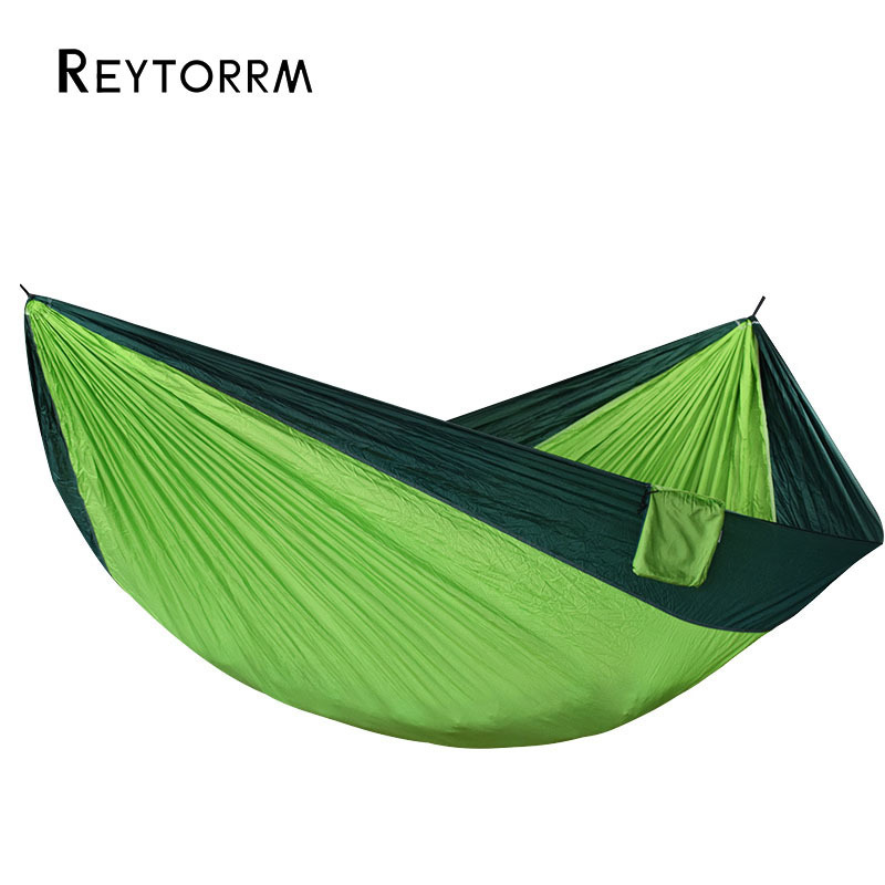 Image 2 - 320*200cm Large Size Hammock For 2 With 2Straps 2 Carabiners For Outdoor Camping Sleeping Hanging Bed-in Hammocks from Furniture
