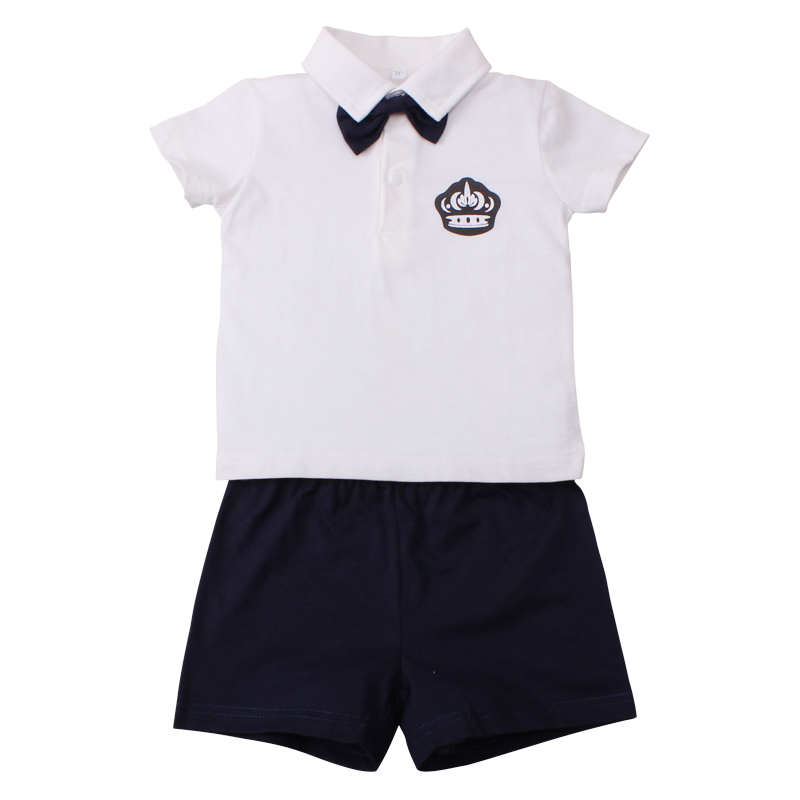 Children Set Brand Summer Baby Boys Kids Clothes 2pcs Top+Shorts Boy Gentleman Outfits Cotton Clothing Set Fashion Sports Suits