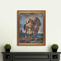 ホーム商品壁アート手作り有名なアートワークmarocanと彼の馬油絵複製博物館品質mp004