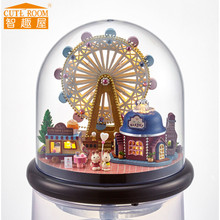 CUTE ROOM B023 Miniature Maison de Poupée Modèle Bonheur Grande Roue pour cadeau d'ami DIY Doll House Avec Meubles En Bois pour cadeau