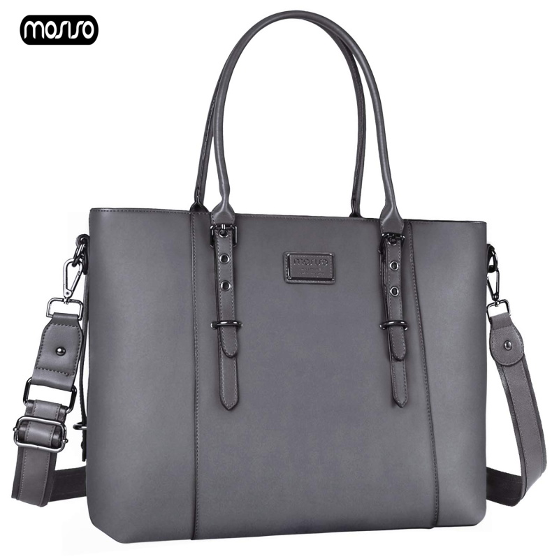 MOSISO 2019 New PU Leather Laptop Bag Handbag Shoulder For 15 inch Case MacBook Air Pro 15.6 Cover