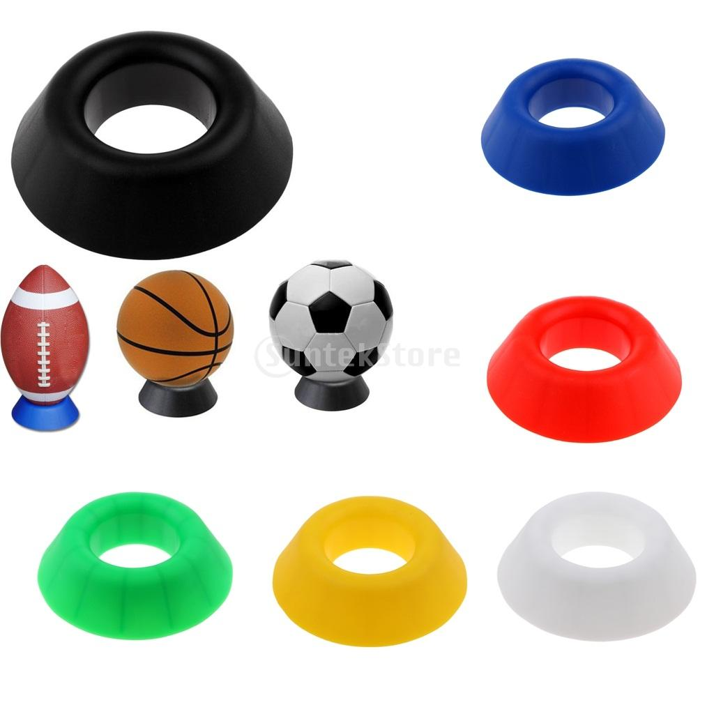 "Premium 5"" Ball Stand Display Holder Rack Basketball Football Soccer Trainging Stand Rugby Ball Support Base - Choose Colors"