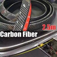 Car Carbon Fiber Front Lip 2 5M Styling For Toyota Corolla Avensis RAV4 Yaris Auris Hilux