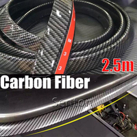 Car Carbon Fiber Front lip 2.5M Styling For Toyota Corolla Avensis RAV4 Yaris Auris Hilux Prius verso For Buick Excelle Encore