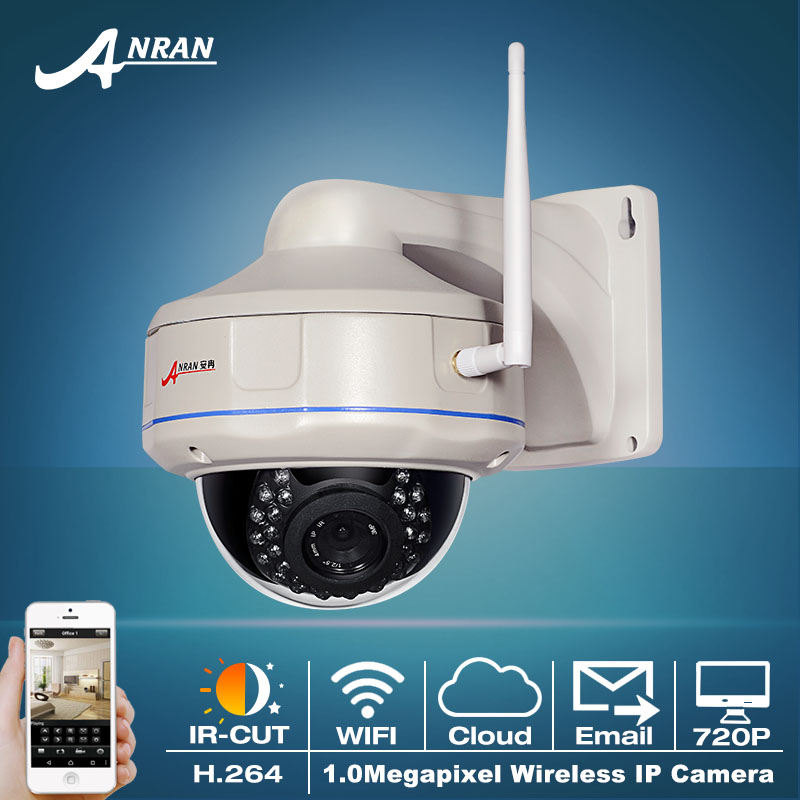 ФОТО CMOS Sensor 25fps 30 IR Outdoor Waterproof Vandal-proof Dome Onvif  H.264 1.0 Megapixel 720P Network Wireless WIFI IP Camera
