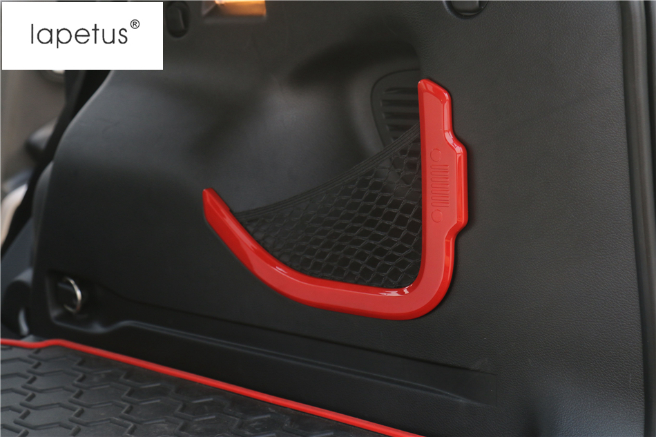 Accessories For Jeep Renegade 2015 - 2018 Rear Trunk Storage Box Net String Bag Frame Molding Cover Kit Trim 2 Pcs / 6 Color