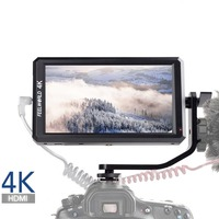 Feelworld F6 Full HD On Camera Field Monitor 5.7 Inch with Tilt Arm 4K HDMI Input DC 8V Power Output for DSLR Mirrorless Camera