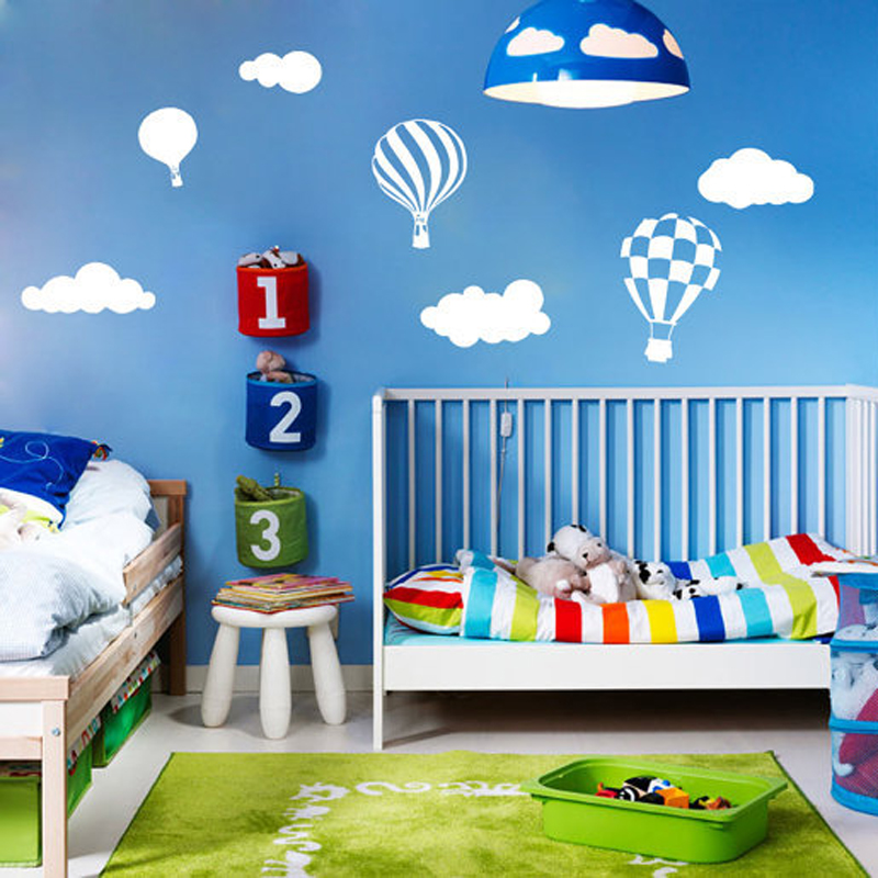 Hot Air Balloon Cloud Sticker Wall Stickers Home Decor Home Decoration Wall Decals For Boy 39 S