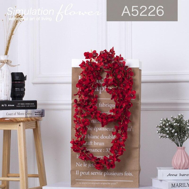 Rattan Şerit Wisteria S Düğün Için Yapay Çiçek Asma Odası Ev - Tatiller ve Partiler Için - Fotoğraf 6