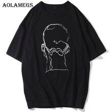 Aolamegs T Shirt Men Skull Printed Men