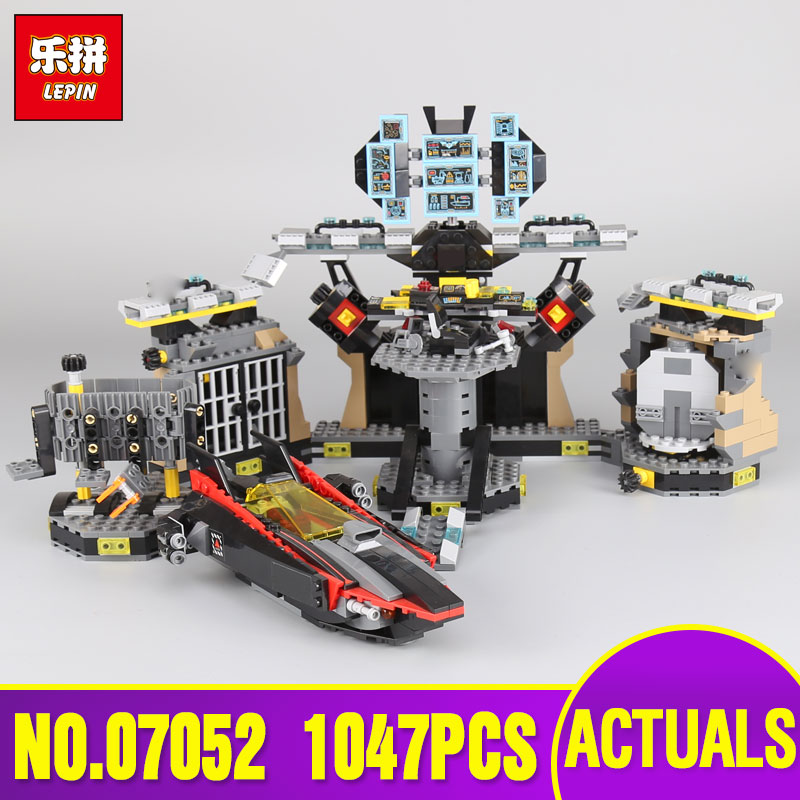 Lepin 07052 Genuine Movie Series Batcave Break-in Building Blocks Bricks Educational Toys Gifts legoing 70909 Model for children new stock lepin 07052 batcave break in set 1047pcs genuine model moviebuilding blocks bricks educational toys boys girls 70909