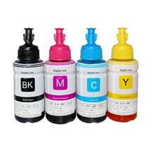 Compatible dye based refill ink kit for Epson L100 L110 L120 L132 L210 L222 L300 L312 L355 L350 L362 L366 L550 L555 L566 printer