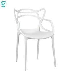 94975 Barneo N-221 кухонный стул пластиковый стул белый стул для улицы мебель для кафе стул для кафе уличный стул для летника пластик доставка в Каз...