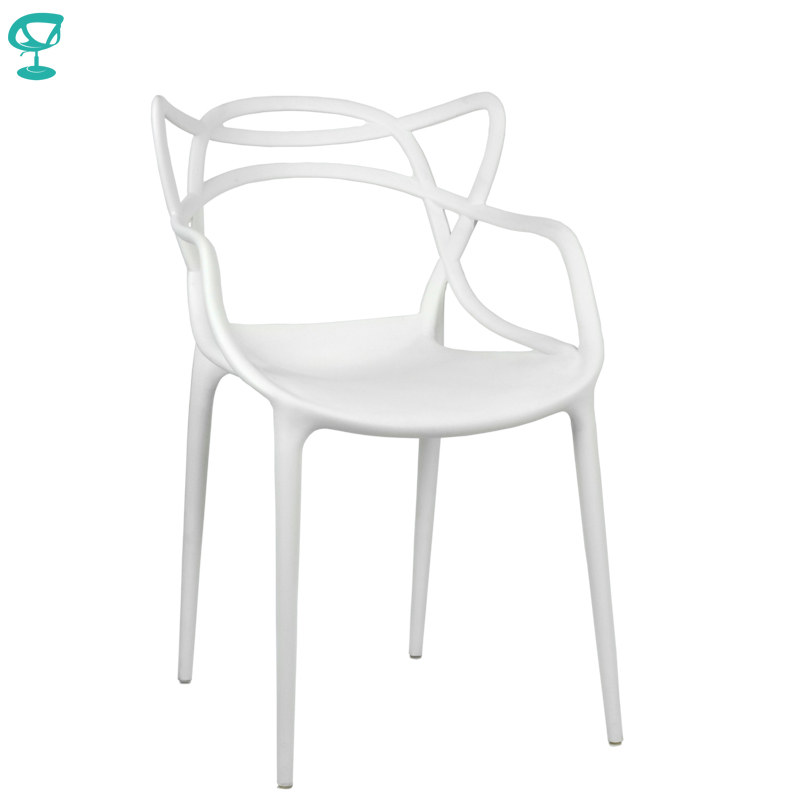 94975 Barneo N-221 Plastic Kitchen Interior Stool Chair For A Street Cafe Chair Kitchen Furniture White Free Shipping In Russia