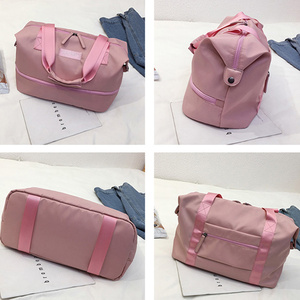 Image 5 - Sports Gym Fitness Dry Wet Separation Yoga Bag Travel Handbags For Shoes Women the Shoulder Sac De Sport Luggage Duffle XA965WD