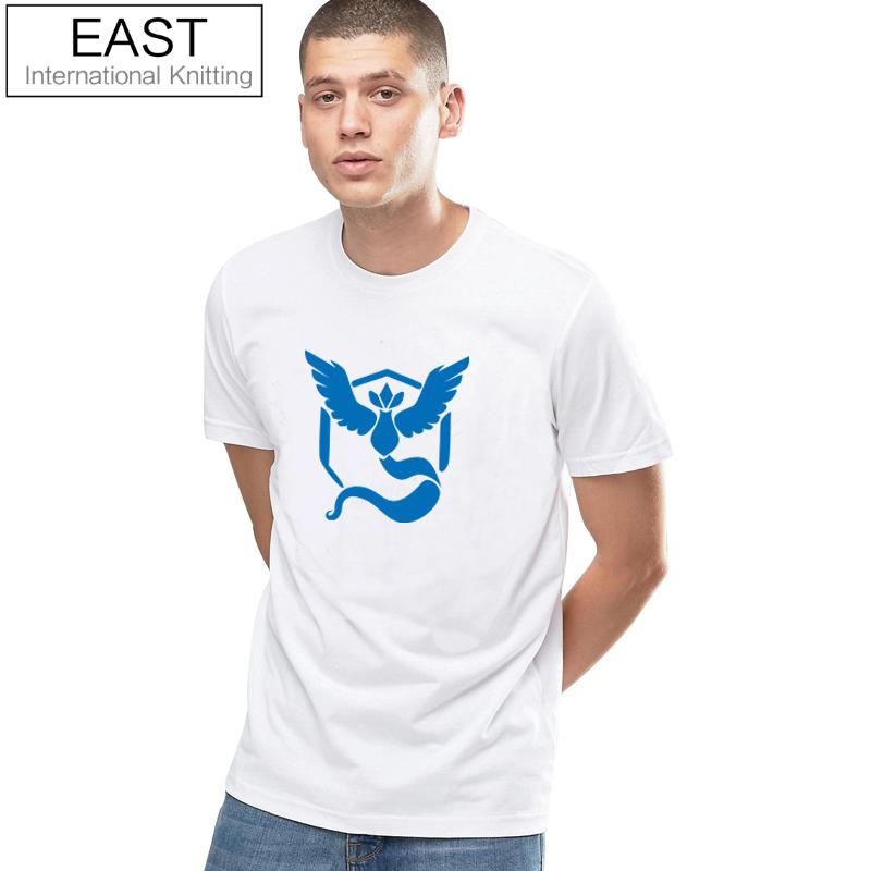 EAST KNITTING H958 Pokemon Go Couples T Shirt Crew Neck T-shirt Women Short Sleeve Shirt Team Mystic Tshirt Tee Tops