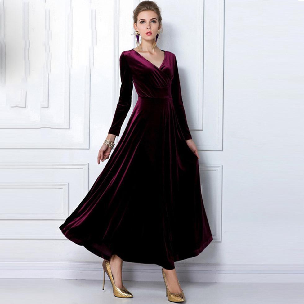 long velvet dresses page 40 - sport