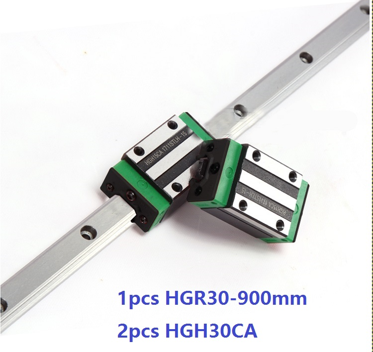 цены 1pcs linear guide rail HGR30 900mm + 2pcs HGH30CA linear narrow blocks for CNC router parts Made in China
