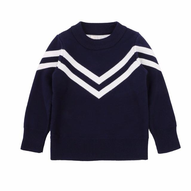 Niñas Bebés Niños Suéter Patrón de Rayas de Manga Larga Slim Fit Camisetas 2-6 Años
