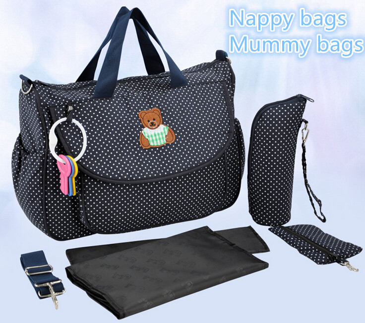Baby Changing Diaper Nappy Bag Mummy Mother Handbag 5 Pcs Multi-functional UK