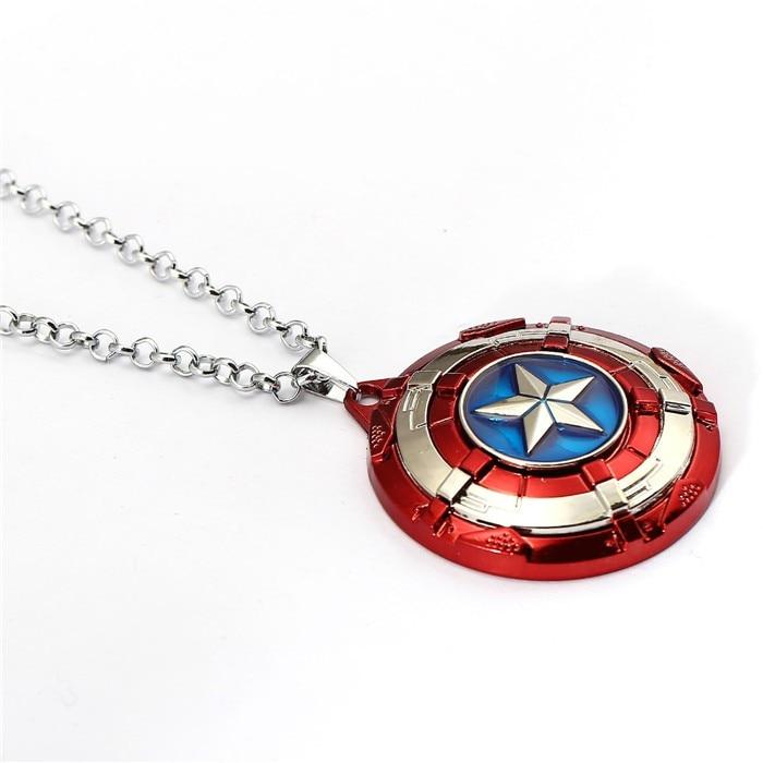 Captain America Marvel Avengers Collier fashion en acier inoxydable Pendentif