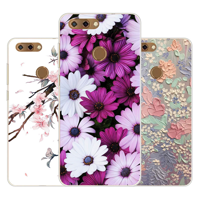 zte blade v9 Case,Silicon Precious flower Painting Soft TPU Back Cover for zte blade v9 protect Phone cases
