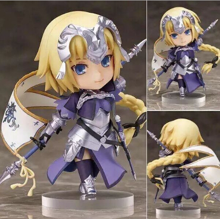 NEW hot 10cm Q version Fate Zero Fate Apocrypha Joan of Arc action figure collection toys Christmas gift new hot 10cm q version sonic the hedgehog mobile action figure toys collection christmas toy doll