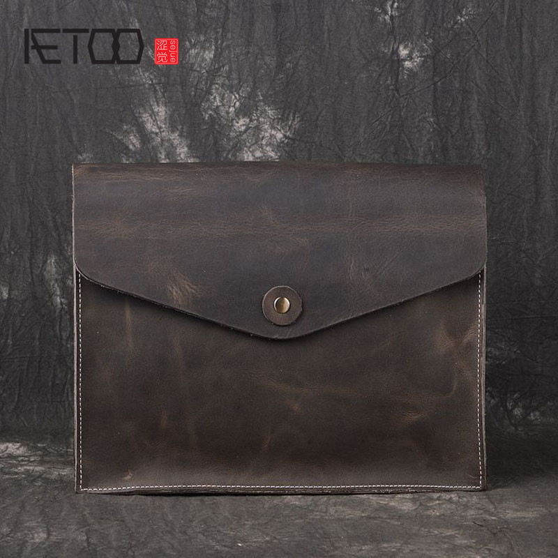 AETOO The new first layer of leather leather handbags men and women universal shoulder oblique casual fashion envelope bagAETOO The new first layer of leather leather handbags men and women universal shoulder oblique casual fashion envelope bag