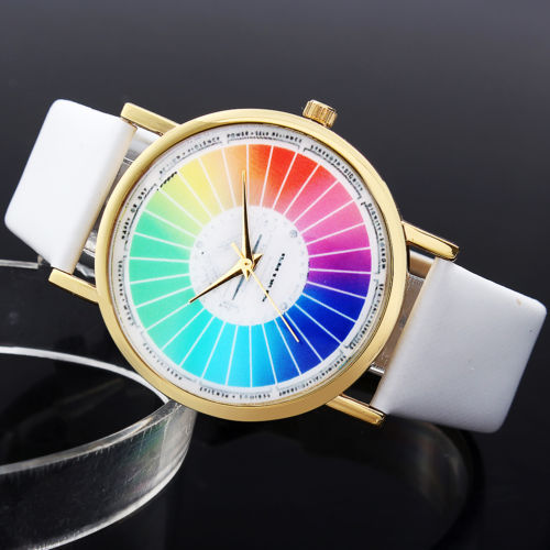 Personalized Color Wheel Watches Mihara Color Wrist Watches