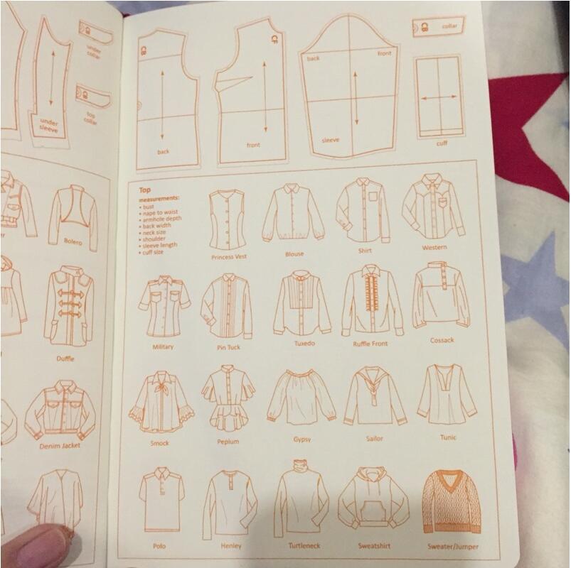 A5 Fashion Designer Notebook Marker Sketchbook Prickad linje Body - Block och anteckningsböcker - Foto 4