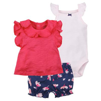 Baby girl clothes set summer 2020outfit girl romper+bodysuit+shorts COTTON newborn clothing babies suit kids clothes