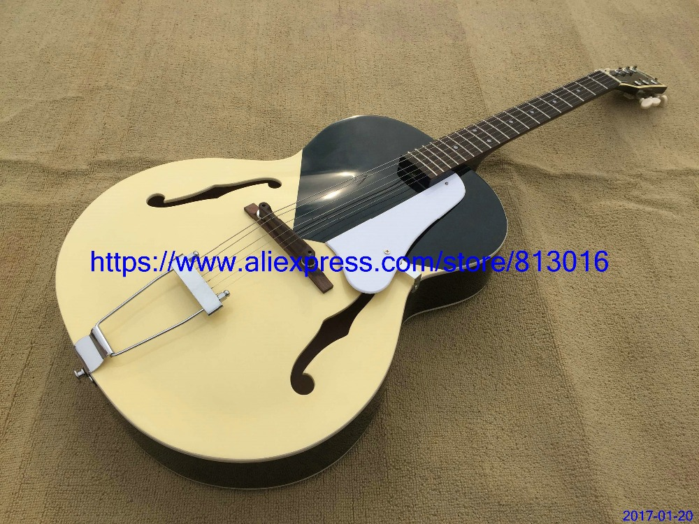 New Arrival 2017 Hot selling electric guitar,cream black solid color.rosewood fingerboard,chrome parts,free Shipping
