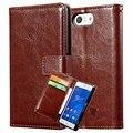 Caso carteira de couro para sony xperia z3 compact mini d5803 m55w coque telefone bag virar luxo pu de couro para sony z3 compact cobrir