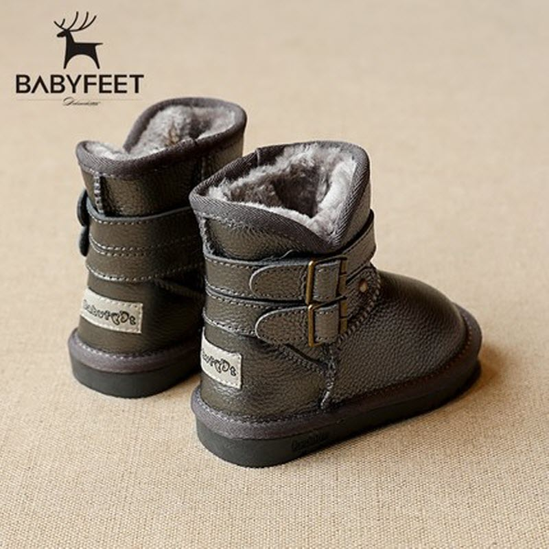 babyfeet 2017 kids shoes for girl winter children boots leather snowboots boys snow boots toddler High Top kinder winterschuhe