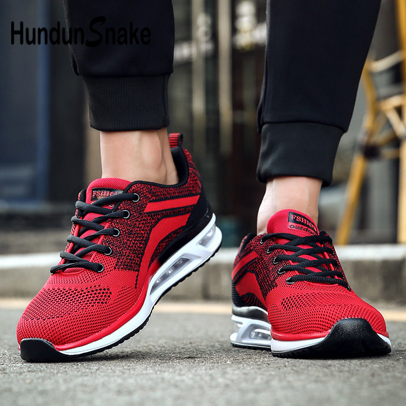 Hundunsnake Air Cushion Shoes Man Sports Running Shoes Men's Autumn Man Sneakers Male Shoe Athletic Chaussure Homme Sport G-4