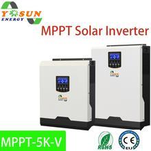 Solar Inverter 500Vdc 5000W 80Aac MPPT 48Vdc 220Vac Off-Grid Inverter 5Kva Pure Sine Wave Inverter 60A Battery Charger