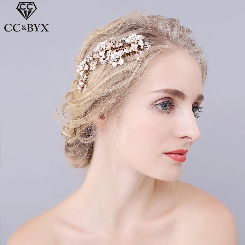 ᗐCC joyería pelo peine para La novia pelo Adornos Accesorios boda ...