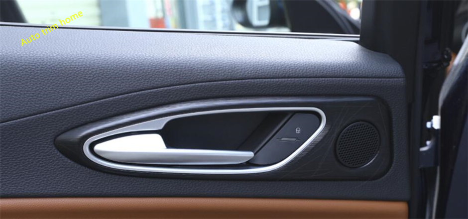 Lapetus For Alfa Romeo Giulia 2016 2017 2018 ABS Inner Door handle Bowl Catch Cap Auto Accessories Molding Garnish Cover Trim lapetus for honda civic 2016 2017 2018 abs dashboard central control console air conditioning panel molding garnish cover trim