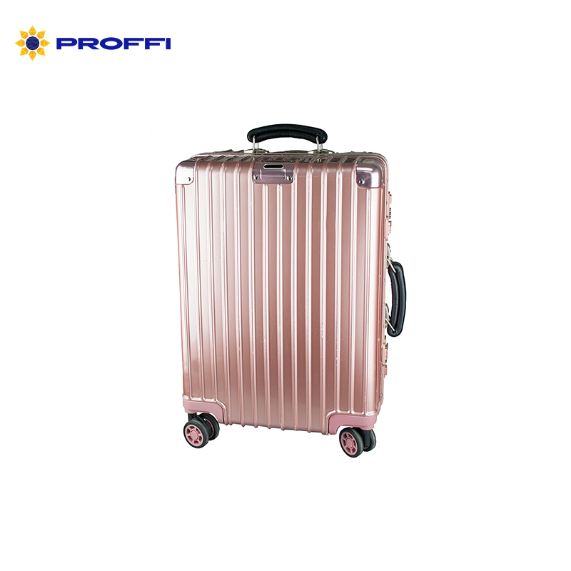Women's business class suitcase PROFFI TRAVEL PH8867 S pink lightweight, with TSA combination lock on wheels 2pcs travel bags replacement luggage suitcase wheels left