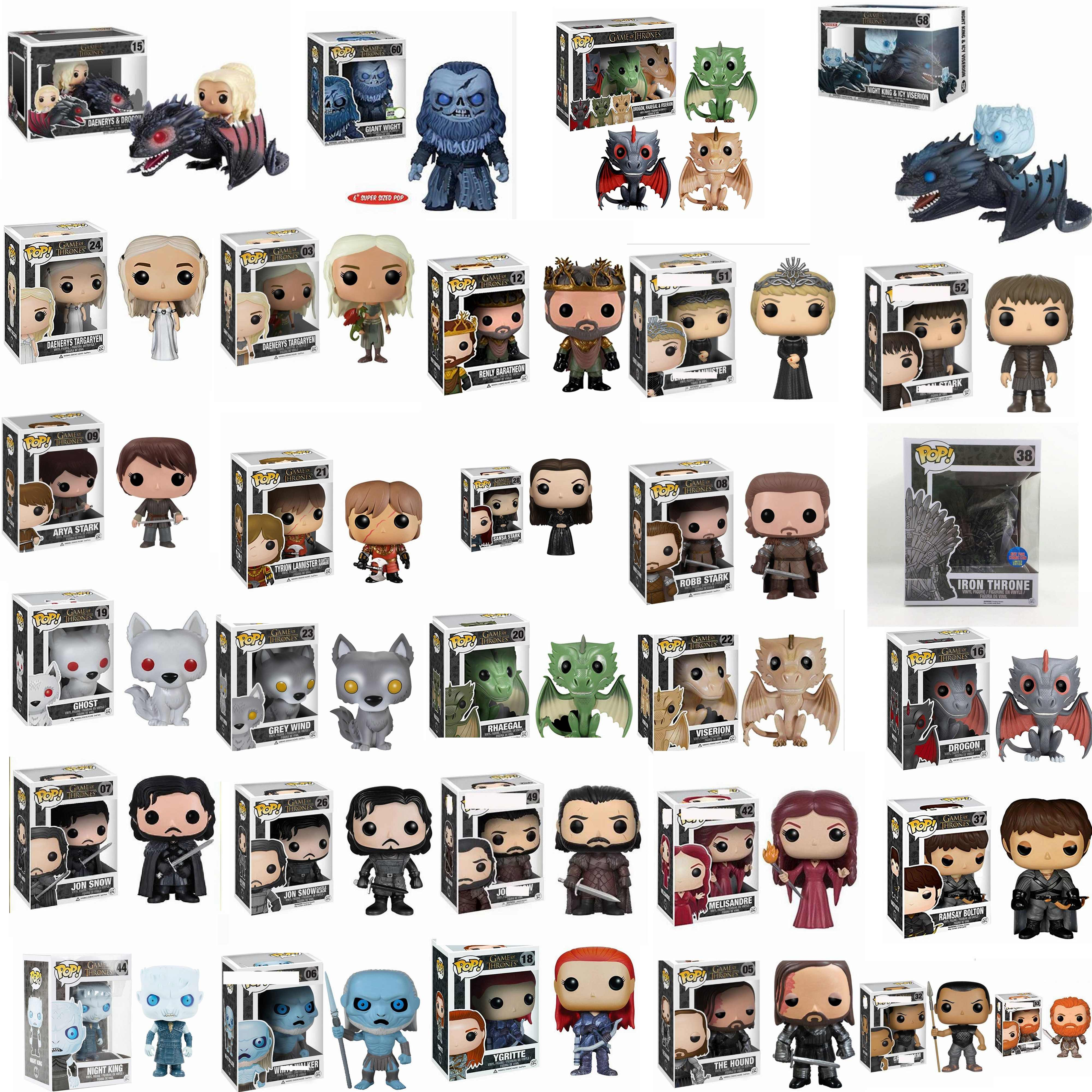 Funko pop Song Of Ice And Fire Game Of Thrones & บัลลังก์เหล็ก 38 # brinquedos Action Figure ของเล่นสำหรับเด็กของขวัญกล่อง
