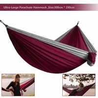 2019 Hamac Parachute Ultra-grand poids léger Camping survie jardin chasse loisirs Hamac voyage Double personne Hamak Ramac