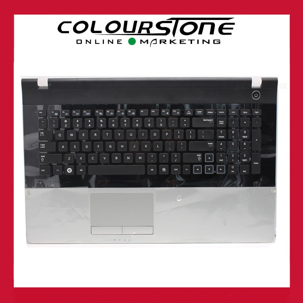 New for Samsung NP300E7A NP305E7A 300E7A 305E7A US Keyboard with Frame Palmrest Touchpad upper case bezel new russian keyboard for samsung 300e7a 305e7a np300e7a np305e7a np300 e7a black ru laptop keyboard