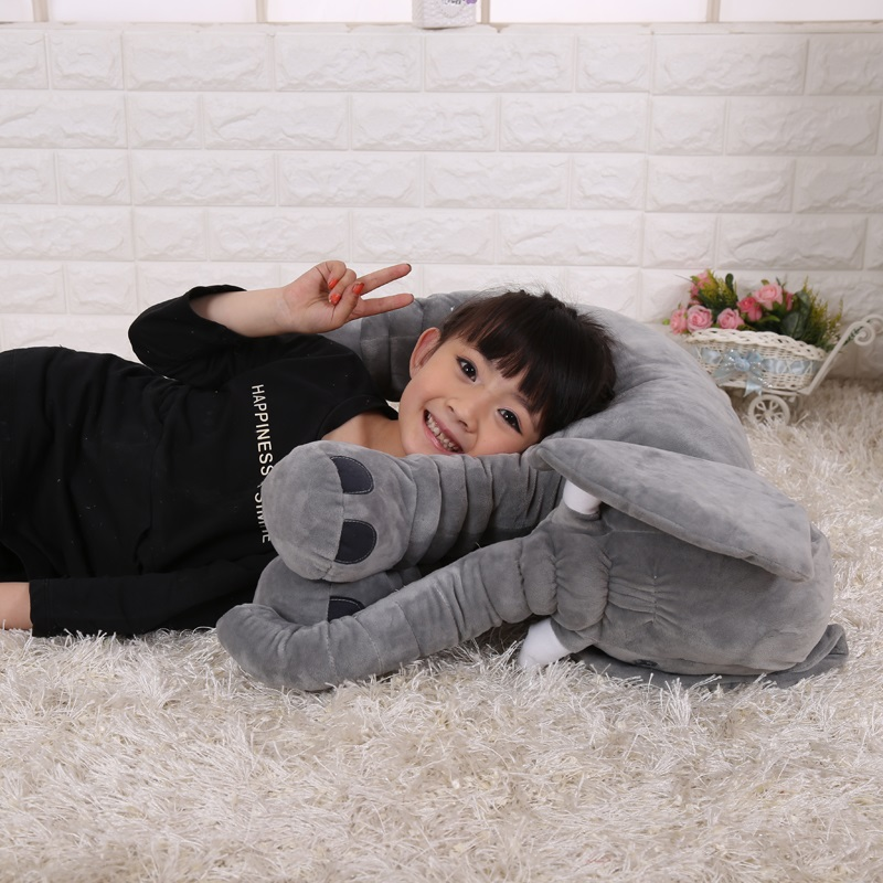 60cm Newborn Baby Pillow Elephant Pillow Room Decoration Plush Toy Infant Kids Baby Bedding Sleep Toy Doll Elephant Plush Pillow