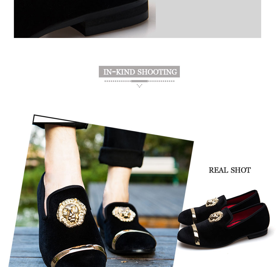 HTB1ru6HXMoQMeJjy1Xaq6ASsFXab - New Fashion Gold Top and Metal Toe Men Velvet Dress shoes italian mens dress shoes Handmade Loafers