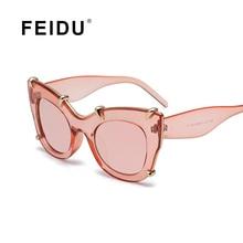FEIDU New Women Sunglass Fashion Cat Eye Sun Glasses Gafas High Quality Sunglasses Women Brand Designer Driving Oculos With Box
