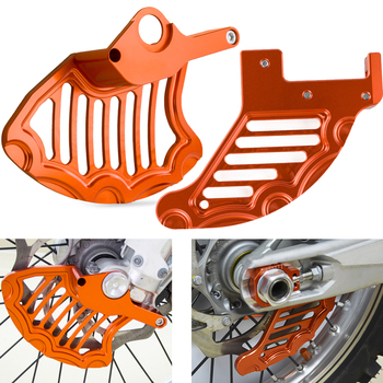 Front Rear Brake Disc Guard Protector Cover For KTM SX SX-F EXC EXC-F XC XC-F XC-W XCF-W 125 150 200 250 300 350 400 450 525 530 motorcycle foot rest pegs for ktm sx 65 85 125 250 sx f 250 350 450 xc 200 250 300 450 525 530 xc f 350 450 xc w 125 150 200 530